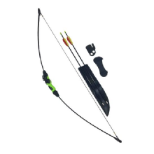 SILCO Child Kids Black & Green Recurve Archery Bow 18Lbs (extra arrows)